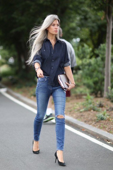 A perfect double denim look - flipped