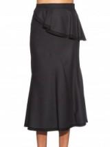 GIVENCHY Striped wool skirt ~ black designer skirts ~ stylish ~ ruffled ~ ruffles ~ chic style daywear