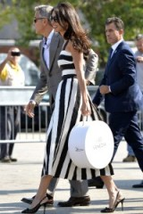 Amal Clooney looking chic in Venice wearing Dolce & Gabbana ~ stylish celebrities ~ celebrity style ~ fashion ~ dresses