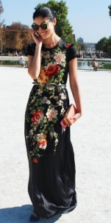 Chic style dresses / floral embroidered gown / flower prints / elegance