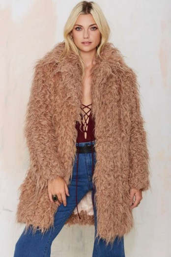 Faux Fur Coat For Sale