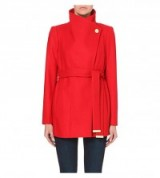ted baker paria wool coat in red