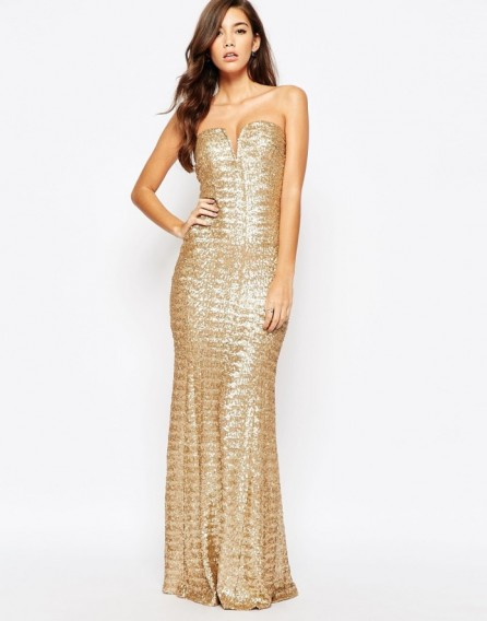 TFNC Showstopper Sequin Maxi Dress in Gold ~ special occasion gown ...