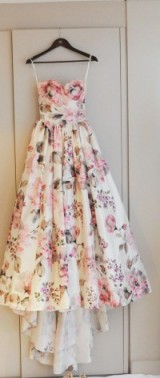 Beautiful strapless floral printed gown / summer parties / flower prints