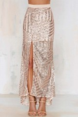 Tiger Mist – Girl Around Town Sequin Skirt blush. Party fashion – embellished evening skirts – going out glamour – sequins