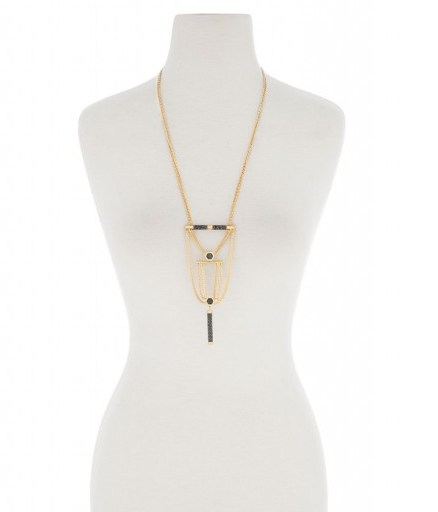 HENRI BENDEL – TRIBECA LONG PENDANT. statement jewellery – large pendants - flipped
