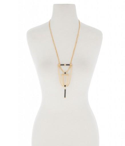 HENRI BENDEL – TRIBECA LONG PENDANT. statement jewellery – large pendants