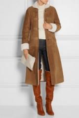 VANESSA SEWARD Abaca shearling coat camel. Designer coats | warm winter outerwear | luxury fashion