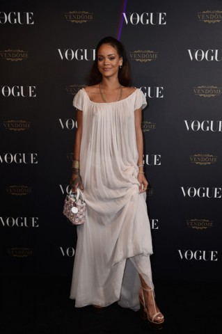 Rihanna, October 3, 2015 – Vogue 95th Anniversary Party Arrivals at PFW s/s 2016. Celebrity style / Paris fashion events