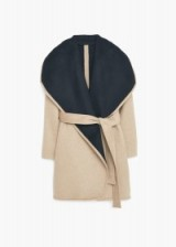 MANGO waterfall wool blend coat medium brown. Autumn / winter fashion – chic style coats – warm jackets