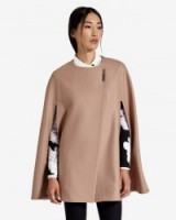 TED BAKER – VICKIYE Wool cape taupe ~ weekend fashion ~ smart capes ~ chic style coats