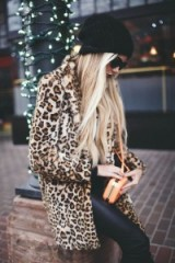 Add a touch of glamour with animal prints. Glamorous street style – leopard print coats – outfit ideas