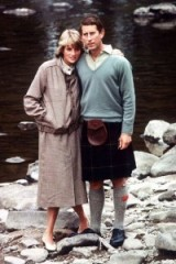 Princess Diana and Prince Charles in August 1981 at Balmoral during their Honeymoon…Diana in a tweed blouson jacket with matching midi skirt and white ballet flats. Diana's style ~ royal fashion ~ royalty ~ outfits