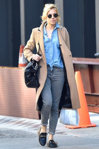 Sienna Miller Street Style Out In New York City November 2015r