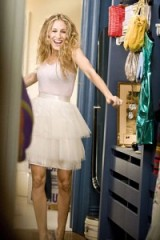 Carrie in her closet ~ Carrie Bradshaw style ~ tutu skirt ~ Sex and the City ~ SATC