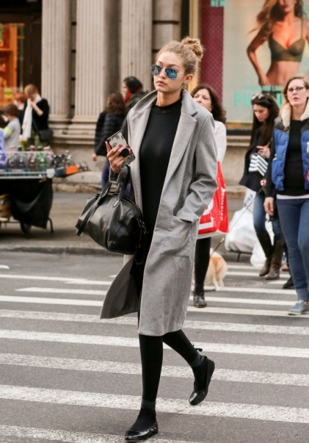 Model gigi hadid street style out in new york celebrity Fashion celebrity street style
