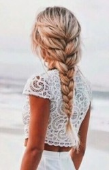 Beautiful blonde thick braid – braided hair – long hairstyles
