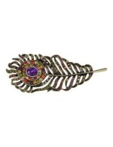 M&S Collection Diamanté Feather Eye Brooch. Brooches / feathers / fashion jewellery / accessories / Marks and Spencer
