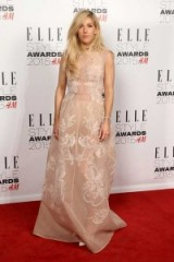 Ellie Goulding wears a sheer pink Alberta Ferretti dress and Casadei shoes – ELLE Style Awards, London, February 2015. red carpet fashion – style – glamour – dresses