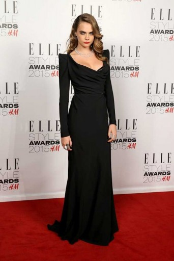 Cara Delevingne Wearing A Black Vivienne Westwood Red Label Gown W