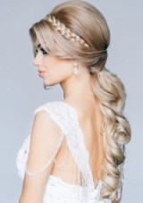 Wedding hair style. Long, blonde and braided