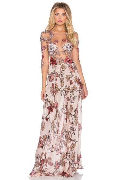 For Love Lemons Sierra Maxi Dress In Blush Floral P