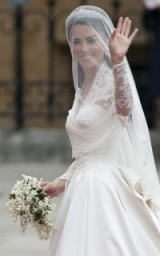 Kate Middleton's ivory satin & lace wedding gown designed by Sarah Burton for Alexander McQueen, 29 April 2011 ~ Catherine Duchess of Cambridge bridal dress ~ royal weddings ~ royalty ~ Kate's style ~ gowns