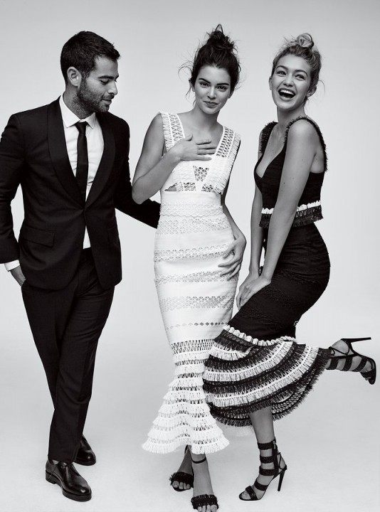 Kendall Jenner with Gigi Hadid and Nick Jonas for the CDFA Vogue Fashion Fund Photoshoot 2015. Photoshoots | models style