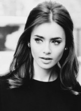 Lily Collins half up half down hair – celebrity beauty – hairstyles