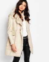 River Island Faux Shearling Coat cream – winter coats – warm fashion – luxe style outerwear