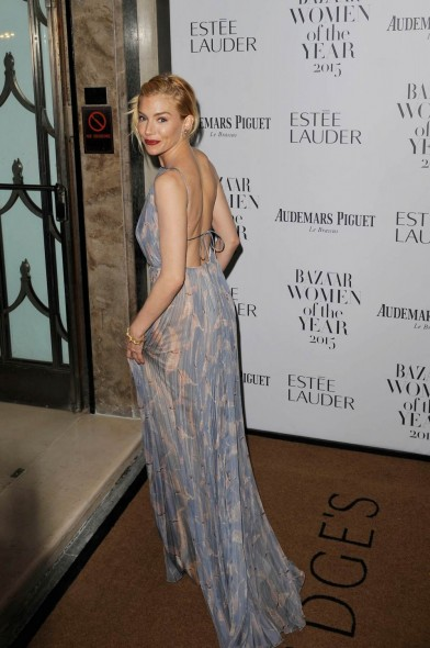 Sienna Miller wears Valentino to the Harper's Bazaar Women Of The Year Awards 2015 ~ style ~ elegance