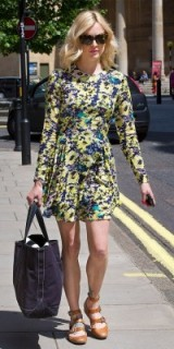 Fearne Cotton wearing a floral print fit and flare mini dress ~ celebrity outfits ~ flower prints