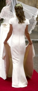 Back view of Pippa Middleton's beautiful bridesmaid dress on 29 April 2011 ~ Kate Middleton's wedding ~ royal weddings ~ bridesmaids dresses