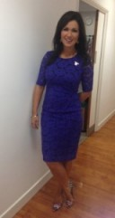 Susanna Reid looking beautiful in an mandco.com blue dress and NineWest.com shoes. #gmb #gorgeous
