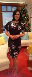 ☃? Susanna Reid in a black floral dress from little-mistress.com and ASOS.com shoes!