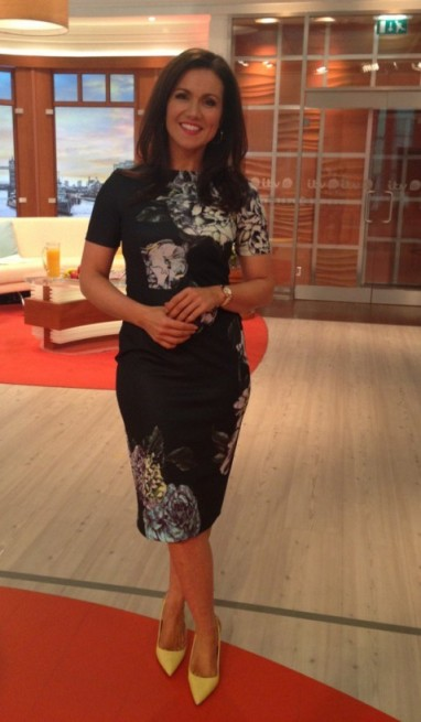 Susanna Reid – ASOS.com dark dress and shoes