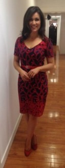 Susanna Reid looking wonderful in a fennwrightmanson.com dress and Next.co.uk shoes