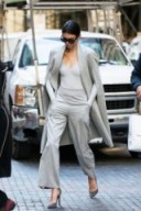 Kendall Jenner street style…chic in an all grey outfit. Celebrity fashion – outfits