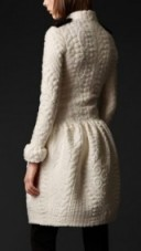 Love this cream knitted coat – knitwear – structured coats
