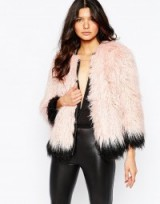 River Island Premium Mongolian Faux Fur Coat pink ~ winter coats ~ fluffy jackets ~ glamour ~ glamorous fashion