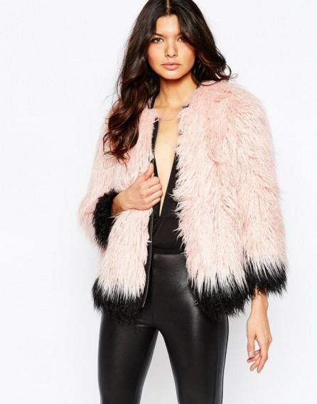 River Island Premium Mongolian Faux Fur Coat pink ~ winter coats ~ fluffy jackets ~ glamour ~ glamorous fashion