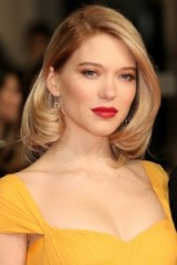Lea Seydoux's chic retro style bob. Celebrity hair | Hollywood hairstyles | red carpet make up | beauty | French actresses