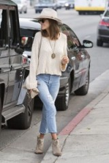 Model Alessandra Ambrosio street style in Beverly Hills, 17 Jan 2016. Celebrity style – casual fashion – celebrities out and about