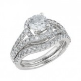 Angel Sanchez 18ct white gold 2.00ct diamond bridal set ~ bling rings ~ diamonds ~ make a statement ~ jewels ~ wedding jewellery