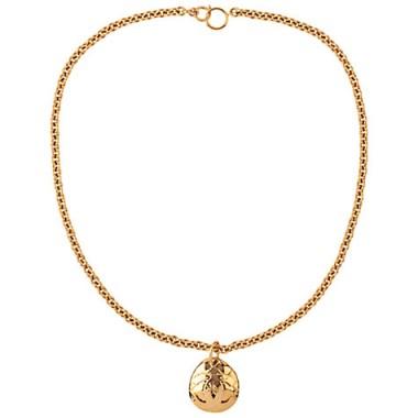 Susan Caplan Vintage 1990s Chanel Oval Pendant ~ gold tone jewellery ~ designer costume necklaces ~ pendants