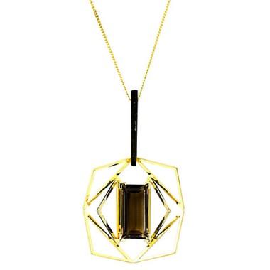 Turner & Leveridge 1960s – 1970s 18ct Yellow Gold Smokey Quartz Pendant ~ vintage jewellery ~ retro pendants ~ chic necklaces