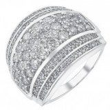 18ct white gold 2ct seven row diamond band ~ bling rings ~ make a statement ~ diamond ~ jewels ~ jewellery