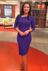 Susanna Reid looking might fine in purple!