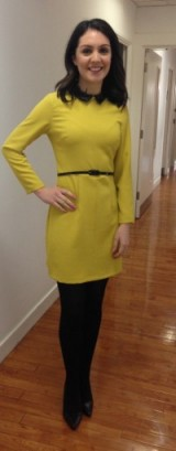 Laura Tobin looking pretty as a picture in this Oasis-Stores.com dress and dorothyperkins.com shoes