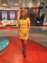 Kate Garraway showing off her lovely legs! KarenMillen.com / Zara.com